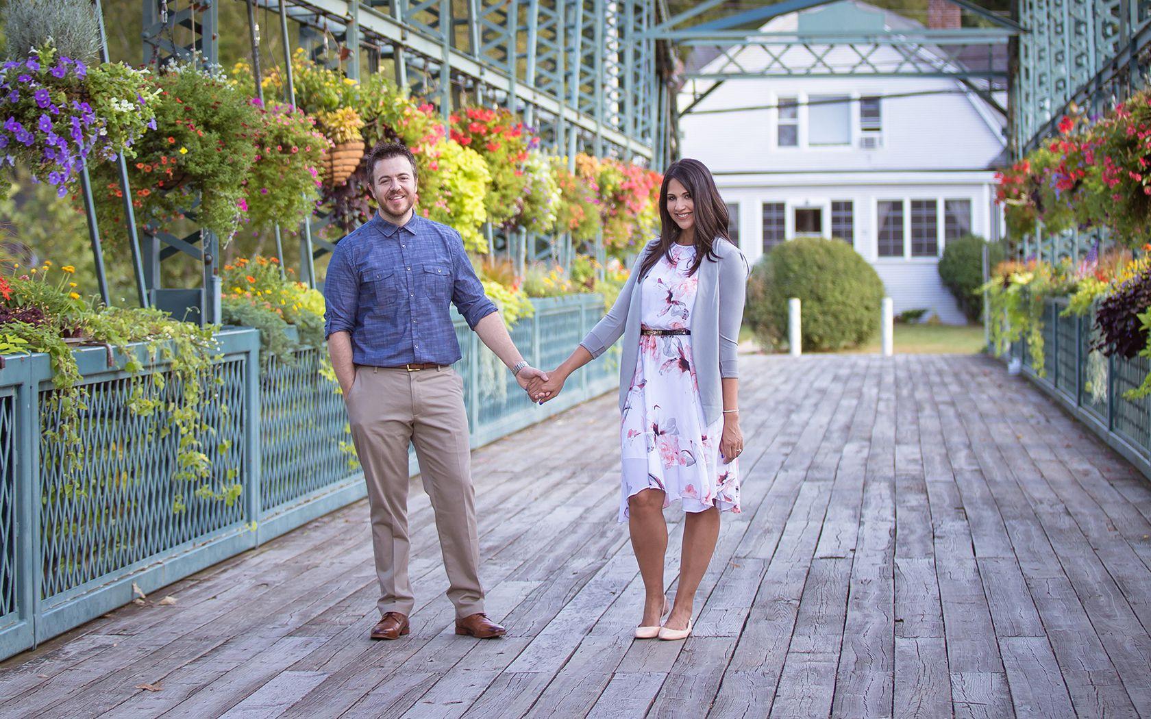 Bruce and Vanessa Lambert from Pixel and Code Studio on the Simsbury Flower Bridge